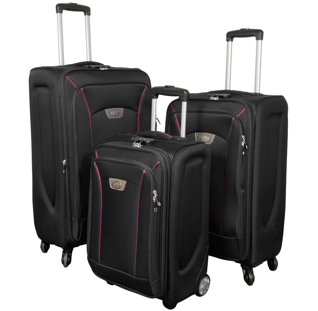 Nylon luggage set<br> black 3tlg<br>Copenhagen