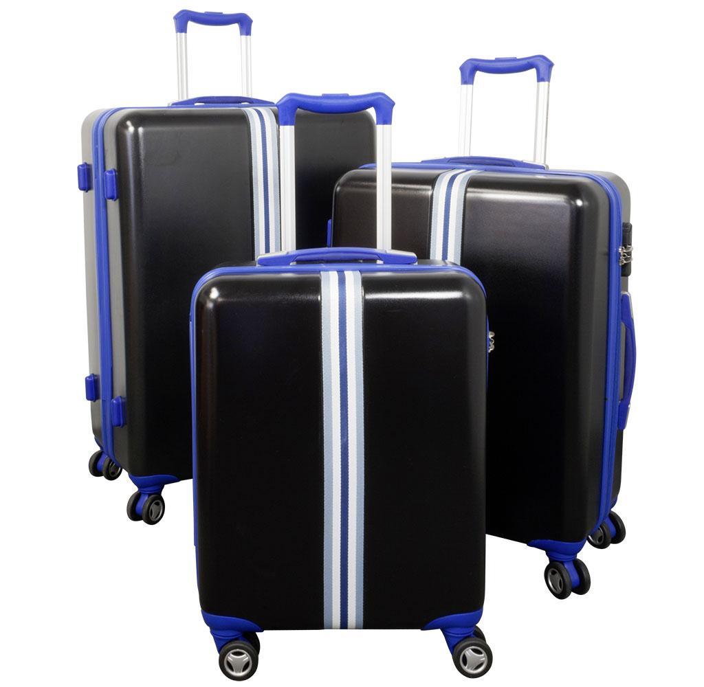 ABS-Kofferset 3tlg Korsika blau