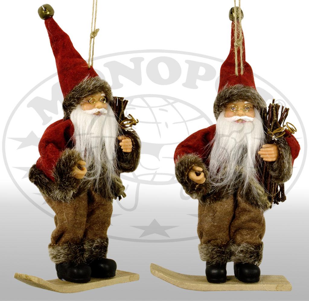 18cm Mikołaj na snowboard - Ozdoby świąteczne
