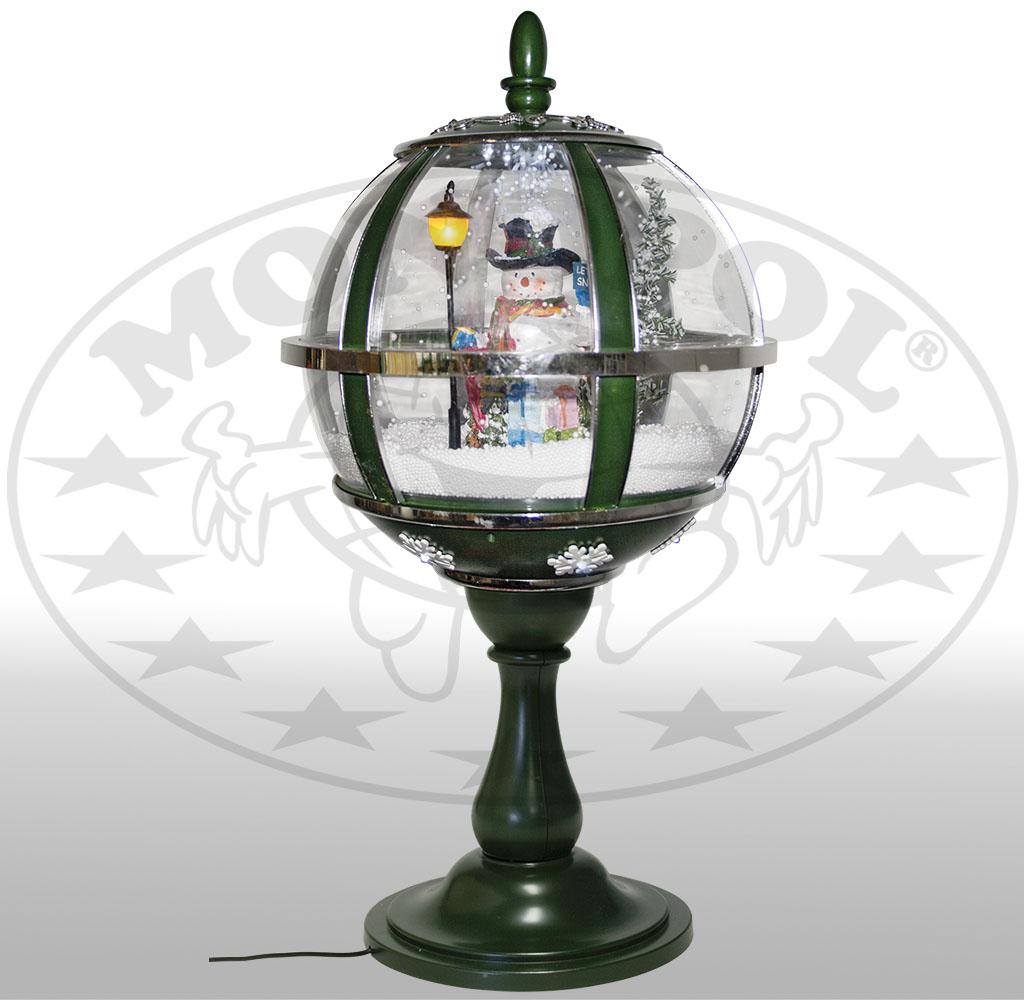 Schneiende LED Tischlaterne 65cm Motiv Schneemann