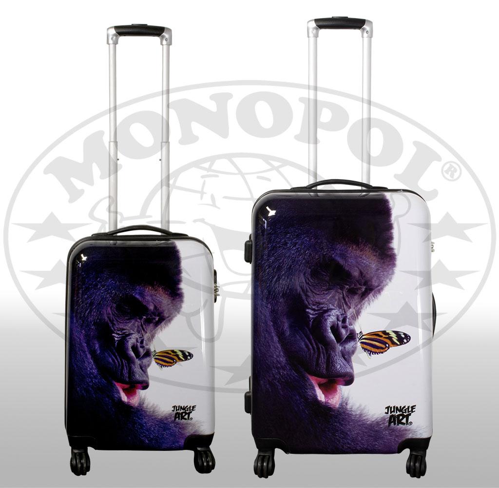 Polycarbonat-Kofferset 2tlg Jungle-Arts Gorilla