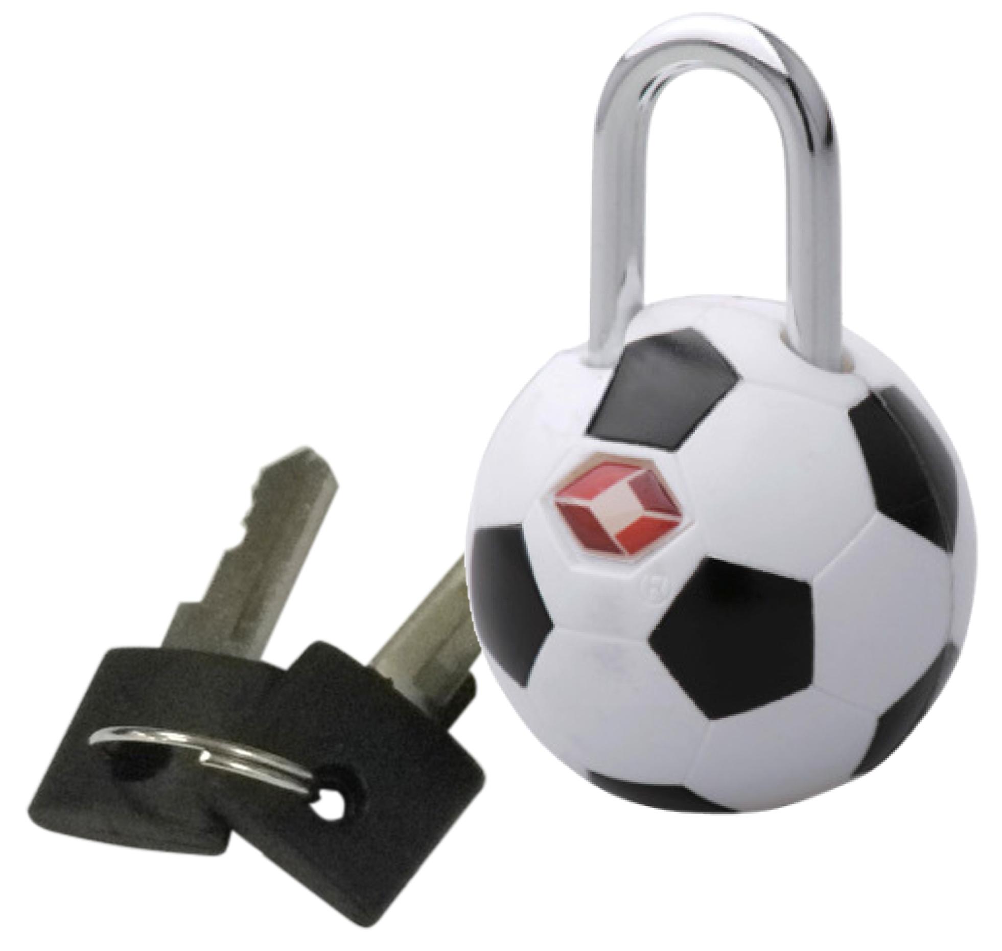 Kofferschloss / TSA-Zahlenschloss Fußball